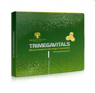 Trimegavitals. Siberian linseed oil and omega-3 concentrate 30cps